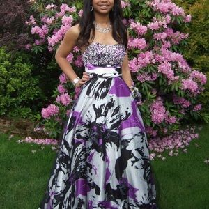 Paint Splatter Prom Dress!